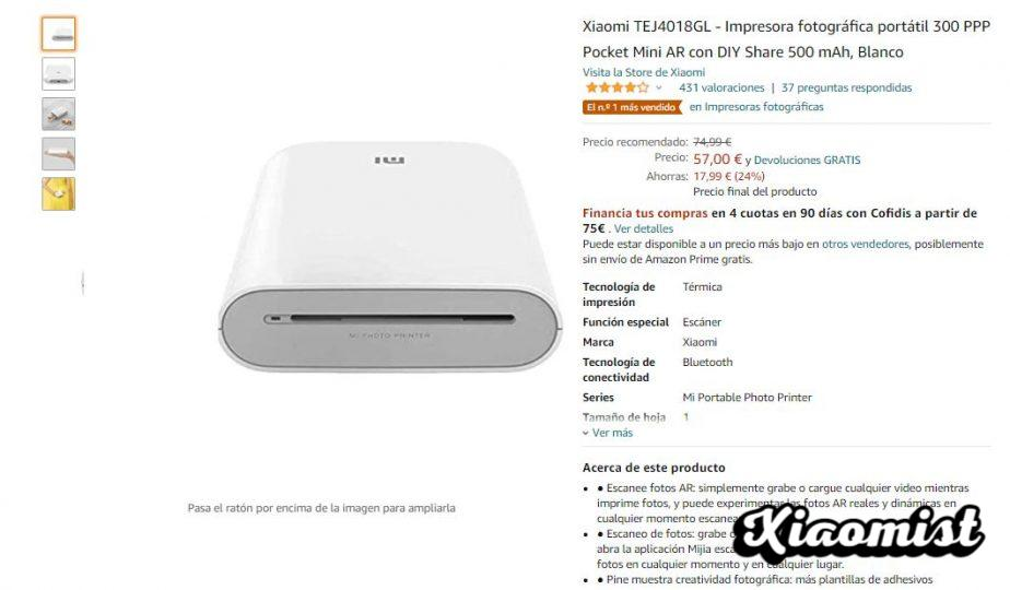 Amazon's best-selling portable printer is a Xiaomi and is 24% off. News Xiaomi