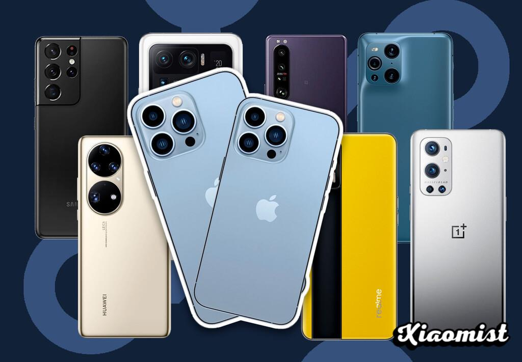 Comparison of the iPhone 13 Pro and Pro Max against the Samsung Galaxy S21 Ultra, Xiaomi Mi 11 Ultra, Sony Xperia 1 and the best mobiles of the moment
