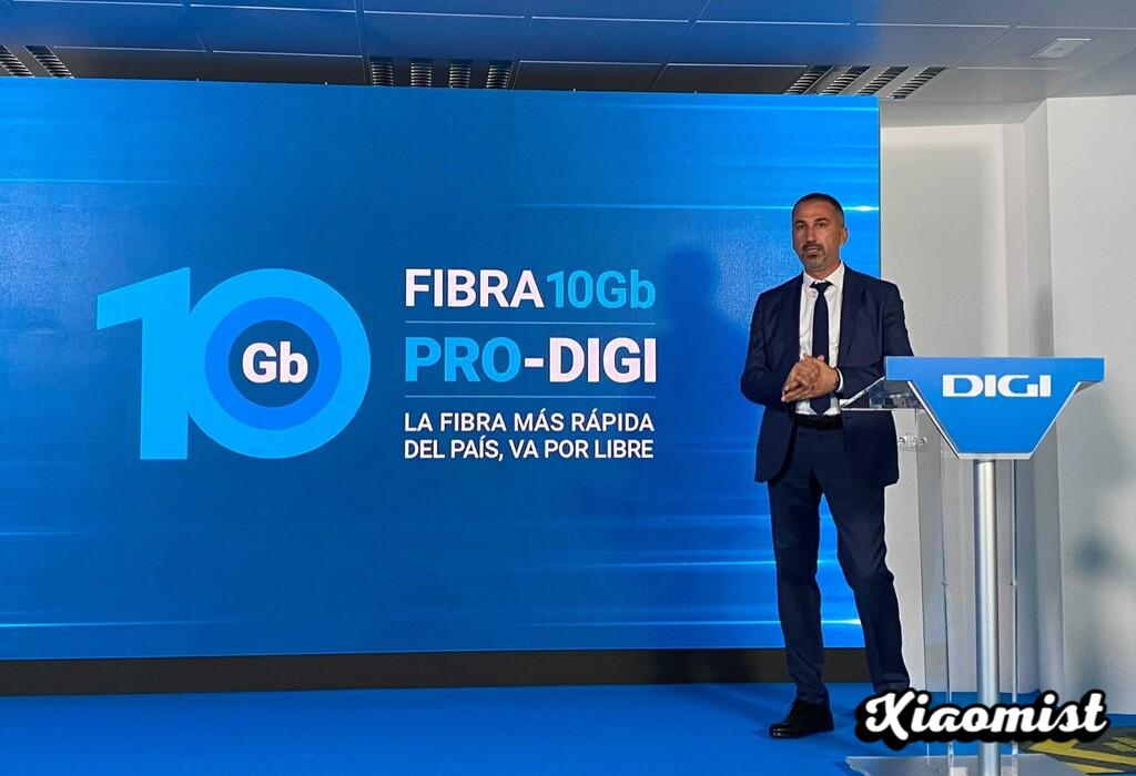 Symmetric 10 Gbps: Digi overtakes other internet operators with the fastest fiber optic in Spain