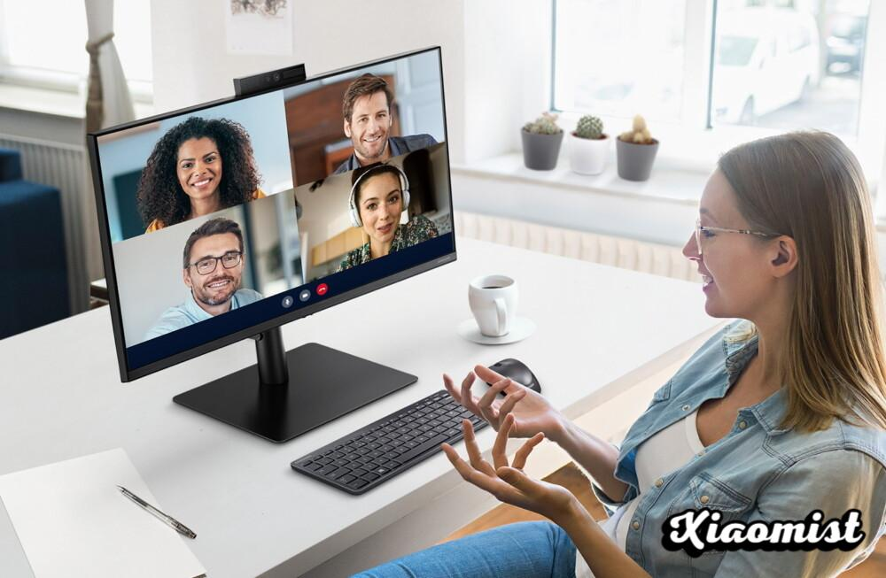 Samsung's new monitor has an integrated pop-up webcam and is fully focused on teleworking