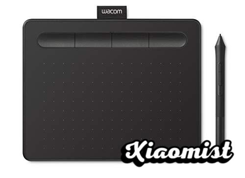 Wacom Intuos S Graphics Tablet - Portable Graphics Tablet for painting, drawing, editing photos with 1 creative software included for download, optimal for online education and telecommuting, black