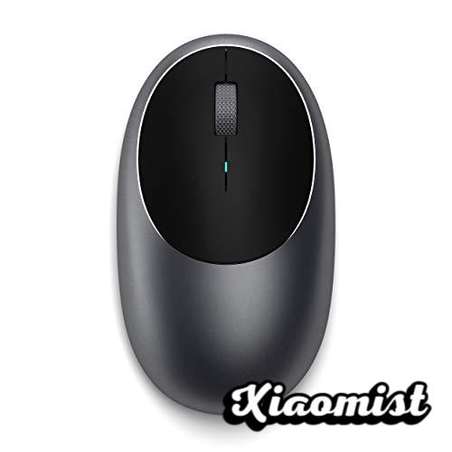 Satechi Aluminum Bluetooth Wireless M1 Mouse with Rechargeable Type-C Port - Compatible with Mac Mini, iMac, iMac Pro, MacBook Pro / Air, Microsoft Surface Go (Space Gray)