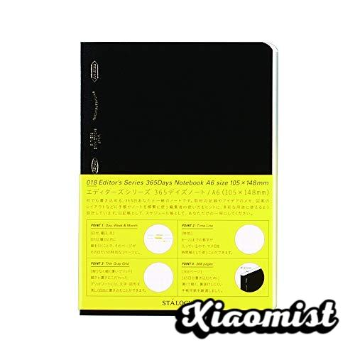 Stalogy S4-G Squared Notebooks: 4.1 in. x 5.8 in. (Black) / A6 365 days notebook