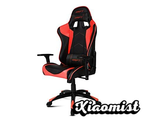 Drift DR300BR - Professional Gaming Chair, (High Quality Leatherette, Ergonomic), Black / Red Color