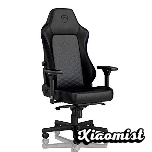 noblechairs Hero Gaming Chair - Office Chair - PU Synthetic Leather - Racing Seat Design - Black / Blue