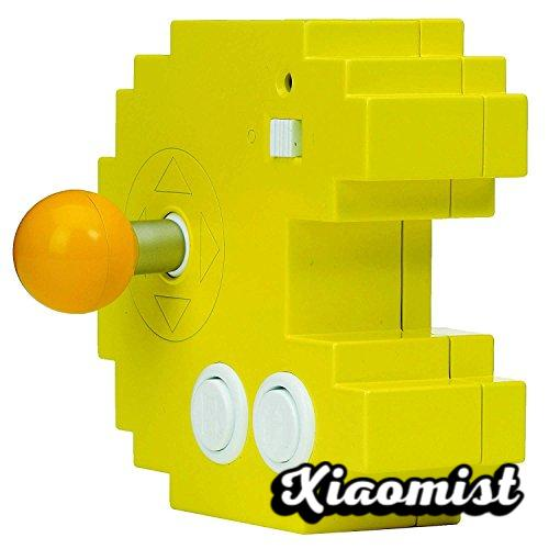 Bandai Pac-Man Connect & Play 38886 Yellow Console, 12 Built-in Retro Arcade Games