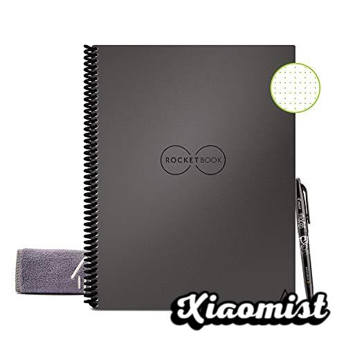 Rocketbook Smart Digital Core Diary Reusable Notebook - Letter A4 Size Gray