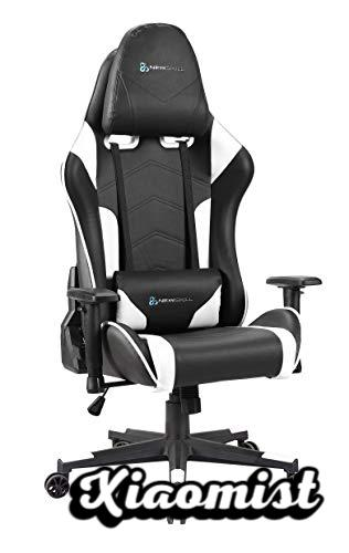 Newskill Kitsune - Professional gaming chair (Inclination and height adjustable, adjustable 2D armrests, nylon base, 180º reclining), White Color