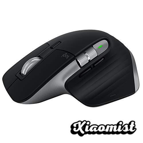 Logitech MX Master 3 Advanced Wireless Mouse, USB Receiver, Bluetooth, 2.4GHz, Fast Scroll, 4K DPI Tracking on Any Surface, 7 Buttons, Rechargeable, PC, Mac, iPadOS, Black