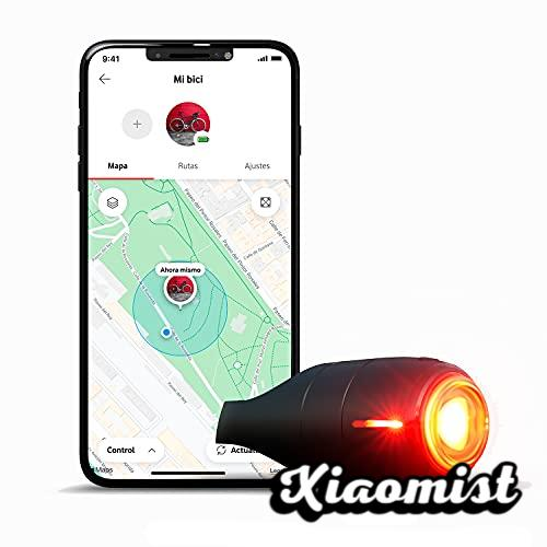 Vodafone Smart Bike Rear Light, Curve Bike Light & GPS Tracker - Brake Light with GPS Locator, Impact Detection, and Security Alarm - Includes 6 Month Subscription