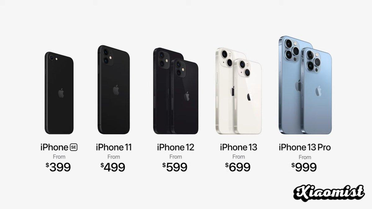iPhone 13, mini, Pro & Pro Max: prices at a glance